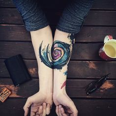 Colorful and Stunning Tattoos by Turkish Artist Yeliz Özcan - ohmycreativesoul.com