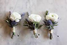 Ranunculus & thistle buttonhole