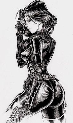 Baroness by Illustrator Monk ( Comic Book Characters, Comic Character, Comic Books Art, Female Characters, Marvel Girls, Comics Girls, Fantasy Female Warrior, Female Art, Baroness Gi Joe