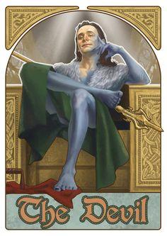 Art by: Julia Cross Avengers Tarot - The Devil: Loki
