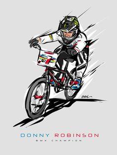 DONNY ROBINSON BMX CHAMPION illustration Christophe Boul www.boulplanet.com