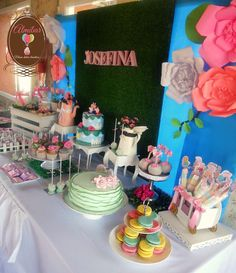Josefina's Peppa Pig 2nd Birthday Party is so adorable! See more partyideas at CatchMyParty.com