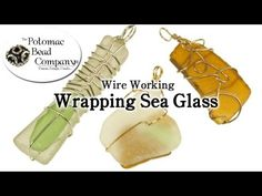 DIY wire wrapped sea glass pendants - YouTube