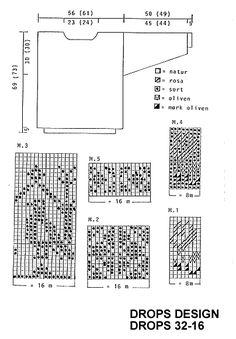 Knitting Charts, Drops Design, Floor Plans, Diagram, Olives, Knitting Tutorials, Floor Plan Drawing, House Floor Plans