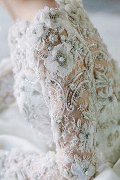Stunning Long Sleeve Wedding Dresses: Sareh Nouri via Polka Dot Bride Perfect Wedding, Dream Wedding, Wedding Day, Wedding Hacks, Wedding Dress Sleeves, Long Sleeve Wedding, Embelished Wedding Dress, Polka Dot Wedding Dress, Sleeve Dresses