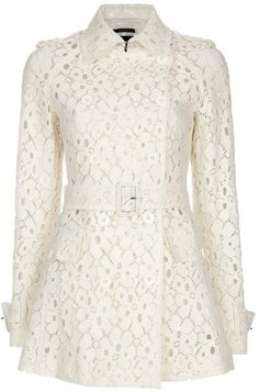 Antonio Croce Lace Trench Coat