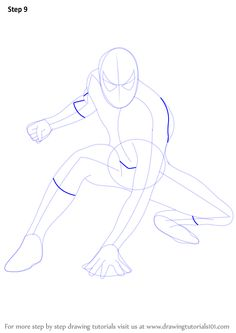 Learn How to Draw Spiderman (Spiderman) Step by Step : Drawing Tutorials Spiderman Sketches, Spiderman Drawing, Drawing Superheroes, Learn Drawing, Learn To Draw, Figure Drawing, Spiderman Spiderman, Spiderman Pictures, Easy Drawings
