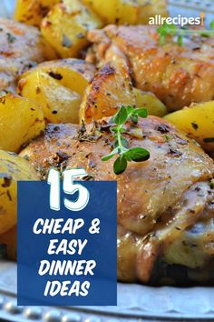 "15 Cheap and Easy Dinners | ""These 15 recipes will save you time and money, plus reward you with full bellies and happy faces at the dinner table. Calling for pantry staples and spices you're sure to have on hand, these recipes require only a handful of ingredients from the store. "" #easy #easyrecipes #quickandeasy #easyrecipesideas"