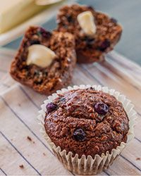 Blueberry Flax Seed Muffins Recipe on Food & Wine