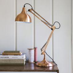 Hettie Angled Table Lamp in Copper £65