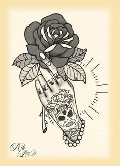 © Rik Lee La Vida Loca Tattoo Flash | KYSA #ink #design #tattoo