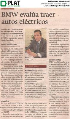 Inchcape Motors: Entrevista a Víctor Acero en el diario Gestión de Perú (14/03/16)