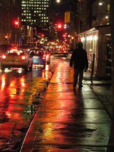 Rainy Night - Toronto, Canada