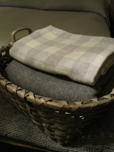 wool blankets-love the gray