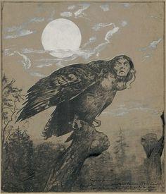 Hans Thoma (1839-1924) ~ Harpy, 1892-95