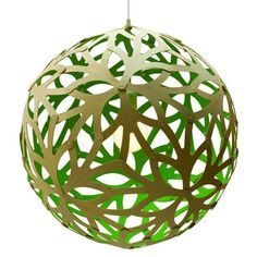Coral Pendant - Paint - Green
