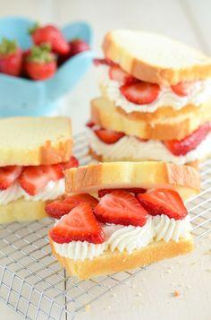 Strawberry Shortcake Sandwiches!