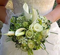 Cala lilies and green parrot tulips so cool!