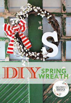 DIY: 4 Step Spring Wreath | Creatively Homespun