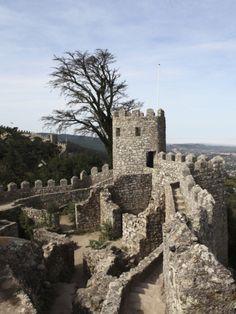 Moorish Castle (Castelo Dos Mouros) Walls and Ramparts, UNESCO World Heritage Site, Sintra, Distric