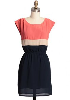 Flower Market Colorblocked Dress