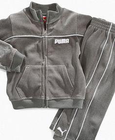 puma velour tracksuit toddler