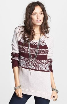 Free People 'Snow Angel' Cotton Pullover available at #Nordstrom