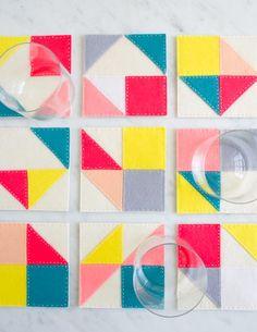Molly's Sketchbook: Modular Felt Coasters