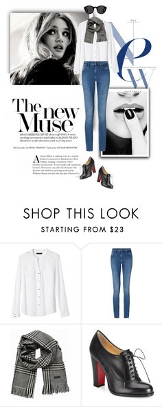 """""""casual luxe............(with gorgeous oxfords)"""" by shailja787 ❤ liked on Polyvore featuring Banana Republic, Calvin Klein, Jack & Jones, Christian Louboutin and Mykita"""