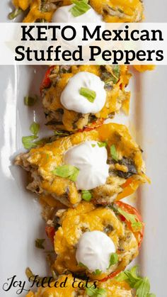 Chicken Stuffed Peppers - Low Carb Keto Gluten-Free Grain-Free THM S - these Mexican stuffed peppers are a great quick meal. Sweet mini peppers that are stuffed with chicken cilantro pesto spinach cheese and more baked to a tender and tasty dinner. Mexican Stuffed Peppers, Chicken Stuffed Peppers, Ketogenic Recipes, Keto Recipes, Healthy Recipes, Protein Recipes, Cheap Recipes, Shake Recipes, Juice Recipes