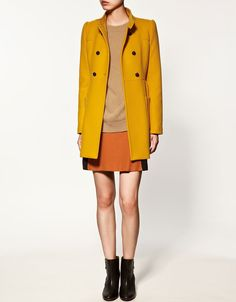 mustard coat. Tomorrow I must have a look for some like this...