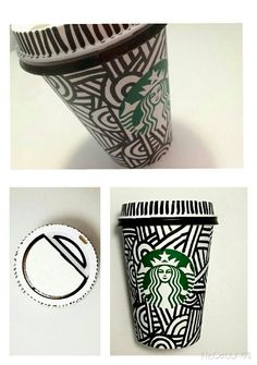 A super cute and easy way to decorate your Starbucks cup!So thats for all the Starbucks lovers!