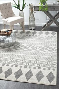 Adani Modern Tribal Design Grey Rug - Online Only - Matt Blatt Where To Buy Carpet, Fade Styles, Transitional Rugs, Buy Rugs, Geometric Rug, Rustic Rugs, Carpet Runner, Modern Rugs, Rugs Online