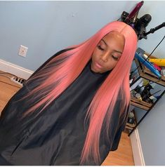 2020 Pink Hair Lace Frontal Wigs Brown Pink Ombre Hair Blonde With Pink Underneath Quality Pink Wig Pink Ombre Hair, Pink Wig, Wig Styles, Curly Hair Styles, Hair Laid, Lace Hair, Black Girls Hairstyles, Brazilian Hair, Brazilian Weave