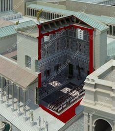 Curia Julia Byzantine Architecture, Roman Architecture, Classic Architecture, Ancient Architecture, Amazing Architecture, Ancient Roman Houses, Ancient Ruins, Ancient Rome, Rome History