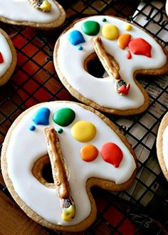 Artistic cookies! So cute!