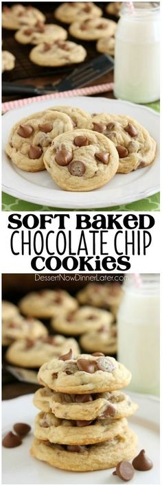 These Soft Baked Chocolate Chip Cookies include a special ingredient to make them perfectly thick, chewy, and soft! Plus tips and techniques for baking the best chocolate chip cookies! on MyRecipeMagic.com