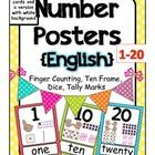 These English number posters include the numbers 1- 20 in letter size posters and student cards. I added two versions: One in a polka dot theme and...