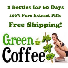 2 months supply Green coffee bean extract/diet herbal extract weight loss green coffee slimming product health lose weight