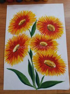 Как нарисовать цветы гуашью. Мастер -класс с пошаговым фото.