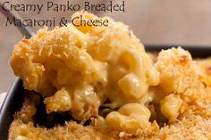 Creamy Panko Breaded Macaroni & Cheese