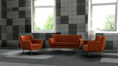 Beton architektoniczny w salonie - płytki typu poduszka Bettoni