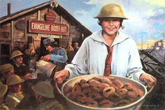The Salvation Army is known for many things, but did you know that we have a famous donut recipe?  During World War I, Salvation Army workers served coffee and doughnuts to soldiers in the trenches. Rations were poor so the doughnut idea was conceived as a means of bringing cheer. Salvation Army workers provided spiritual aid and comfort to the American soldier and allies, becoming a link with home and family. Find the recipe here.