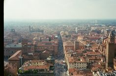 May all your wishes come true this 2017 but not just with luck with hard work motivation and perseverance key elements in achieving anything in this life! [Picture of Bologna from its highest standing tower taken with an old Yashica Electro 35 back in October 2016]