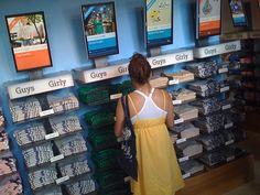 Threadless retail store, T-shirt displays by @superamit, via Flickr