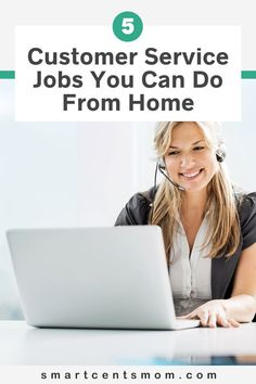 5 Customer Service Jobs you can do from home. Check out these great jobs that you can do in your free time from home and make more money! | Smart Cents Mom Earn Extra Income, Earn Extra Cash, Making Extra Cash, Extra Money, Make Easy Money Online, Earn Money From Home, How To Make Money, Work From Home Companies, Work From Home Jobs