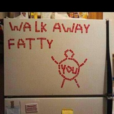 This is something @Hannah Beeber would do to my fridge.