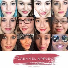 Caramel Apple LipSense lasts up to 18 hours, it is waterproof, kiss proof, smear, bleed proof, and transfer proof! It's vegan, kosher, wax free, lead free, contains no animal bi-products, cruelty- free, and made in USA! Comes in 70+ colors and 11 glosses!! The last Lipstick you'll ever need! www.Happily.me