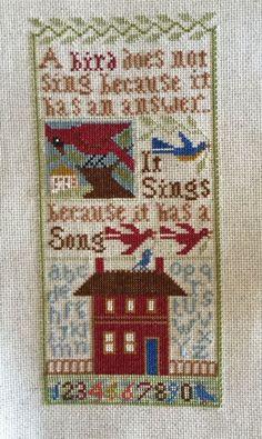 Completed Cross Stitch Prairie Schooler Bird Songs I   eBay