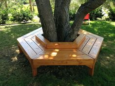 Beautiful Wooden Hand Crafted And Custom Tree Benches